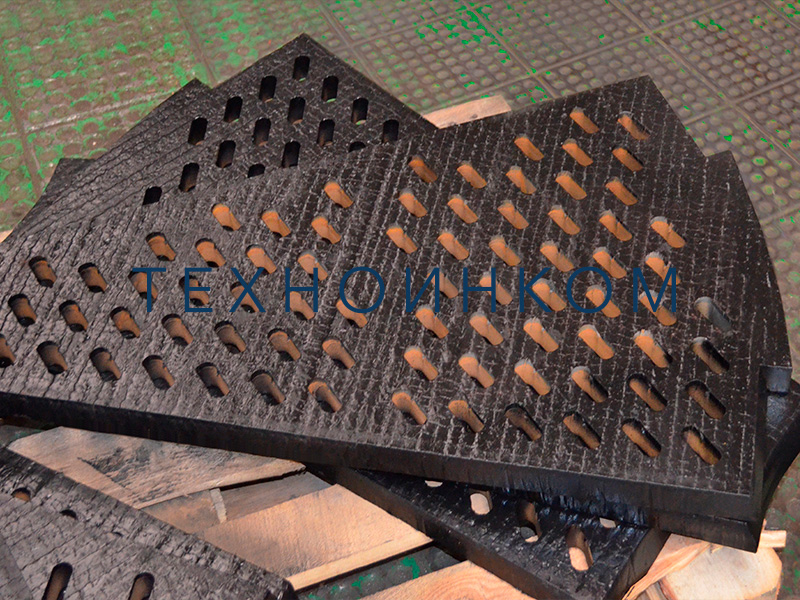 Grates for basalt crushing